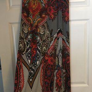 Long multi color skirt NWOT